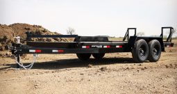 18′ Tandem Axle Equipment Trailer – Fold Up Ramps