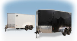 Enclosed Cargo Trailer 6′ W x 14′ L w/ V-Nose – 72″ Wall Height