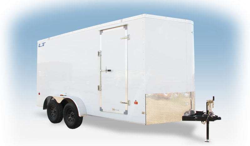 Enclosed Cargo Trailer 7′ W x 16′ L w/ V-Nose – 78″ Wall Height full