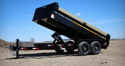 7′ W x 14′ L Tandem Axle Dump Trailer – 3 Way Tailgate
