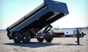 7′ W x 14′ L Tandem Axle Dump Trailer – 3 Way Tailgate full
