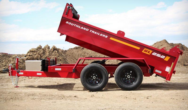 6′ W x 10′ L Tandem Axle Dump Trailer – Double Door Tailgate full