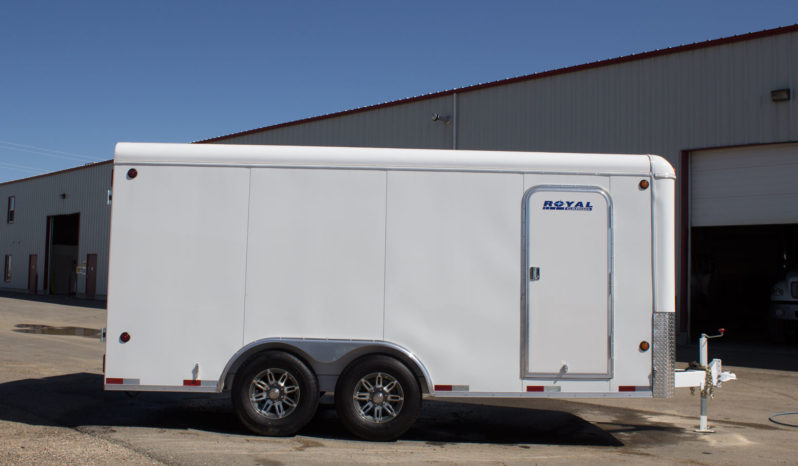 Commercial Enclosed Cargo Trailer 8′ W x 16′ L – 72″ Wall Height full