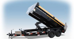 7′ W x 14′ L Tandem Axle Dump Trailer – Double Door Tailgate