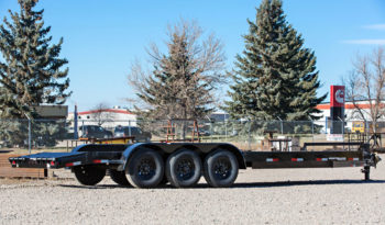 22′ Triple Axle Equipment Trailer w/ 2′ Beavertail – Slide In Ramps full