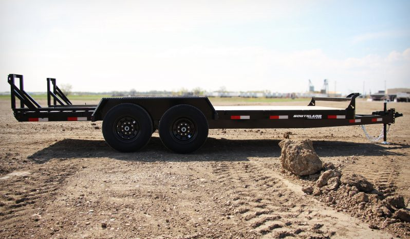 18′ Tandem Axle Equipment Trailer – Fold Up Ramps full