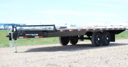 20′ Tandem Axle Deckover Equipment Trailer – Slide In Ramps