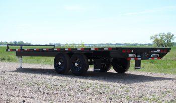 20′ Tandem Axle Deckover Equipment Trailer – Slide In Ramps full