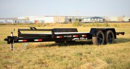 18′ Tandem Axle Equipment Trailer – Slide In Aluminum Ramps