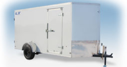 Enclosed Cargo Trailer 6′ W x 14′ L w V-Nose – 72″ Wall Height