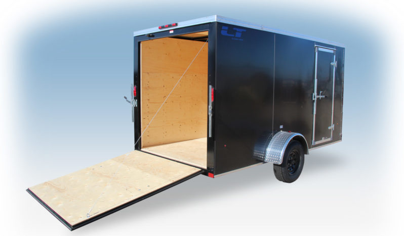 Enclosed Cargo Trailer 6′ W x 14′ L w V-Nose – 72″ Wall Height full