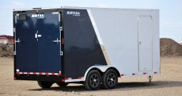 Enclosed Cargo Trailer 8′ W x 18′ L w/ V-Nose- 86″ Wall Height