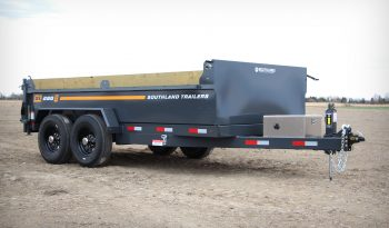 7'W x 14'L Tandem Axle 8K, HD Dump Trailer, 9Ton Lift, GVWR 17,120lbs or Payload 13,325lbs full