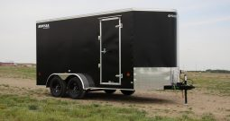 Enclosed Cargo Trailer 7′ W x 16′ L w/ V-Nose – 78″ Wall Height