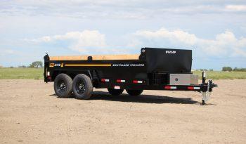 7'W x 14'L Tandem Axle 7K Dump Trailer, 8Ton Lift, GVWR 15,400lbs or Payload 12,402lbs full