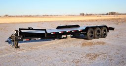 22′ Triple Axle Equipment Trailer w/ 2′ Beavertail – Slide In Ramps