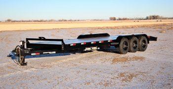 22′ Triple Axle Equipment Trailer w/ 2′ Beavertail – Slide In Ramps