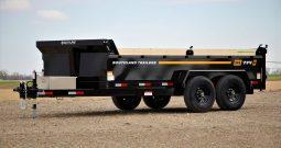 7'W x 14'L Tandem Axle 7K Dump Trailer, 8Ton Lift, GVWR 15,400lbs or Payload 12,402lbs