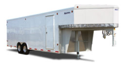 Commercial Gooseneck Enclosed Cargo Trailer 8′ W x 20′ L – 78″ Wall Height