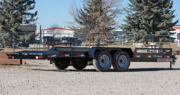 18′ Tandem Axle Equipment Trailer w/ 2′ Beavertail – Slide In Ramps