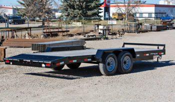 18′ Tandem Axle Equipment Trailer w/ 2′ Beavertail – Slide In Ramps full